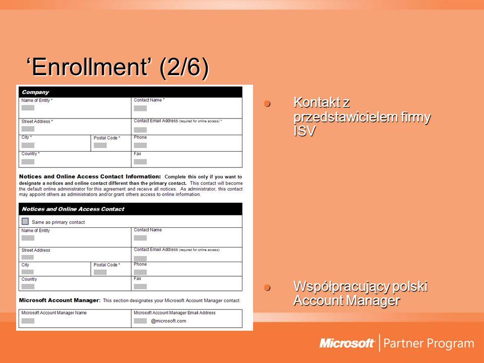 'Enrollment' (2/6) Kontakt z przedstawicielem firmy ISV