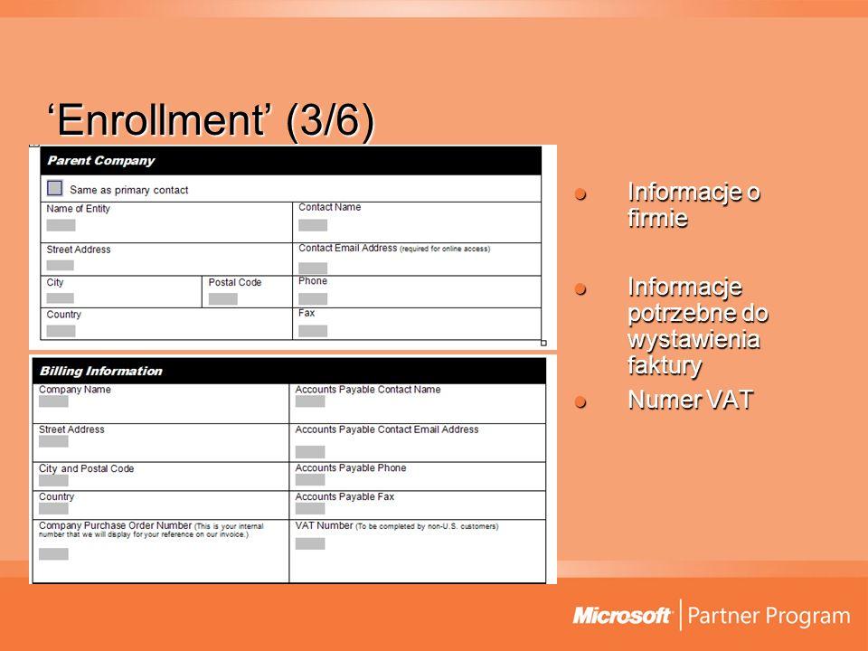 'Enrollment' (3/6) Informacje o firmie