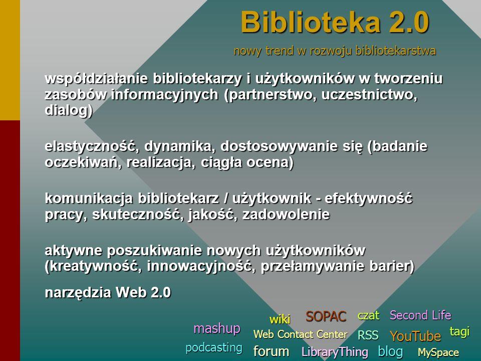 Biblioteka 2.0 nowy trend w rozwoju bibliotekarstwa.