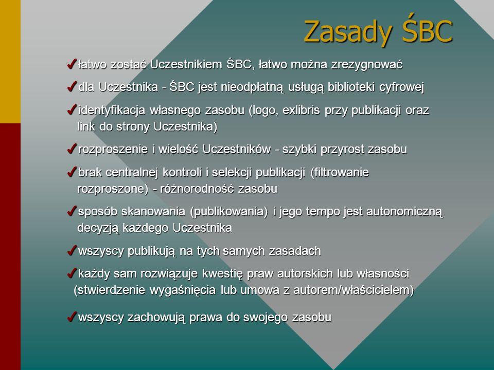 Zasady ŚBC łatwo zostać Uczestnikiem ŚBC, łatwo można zrezygnować