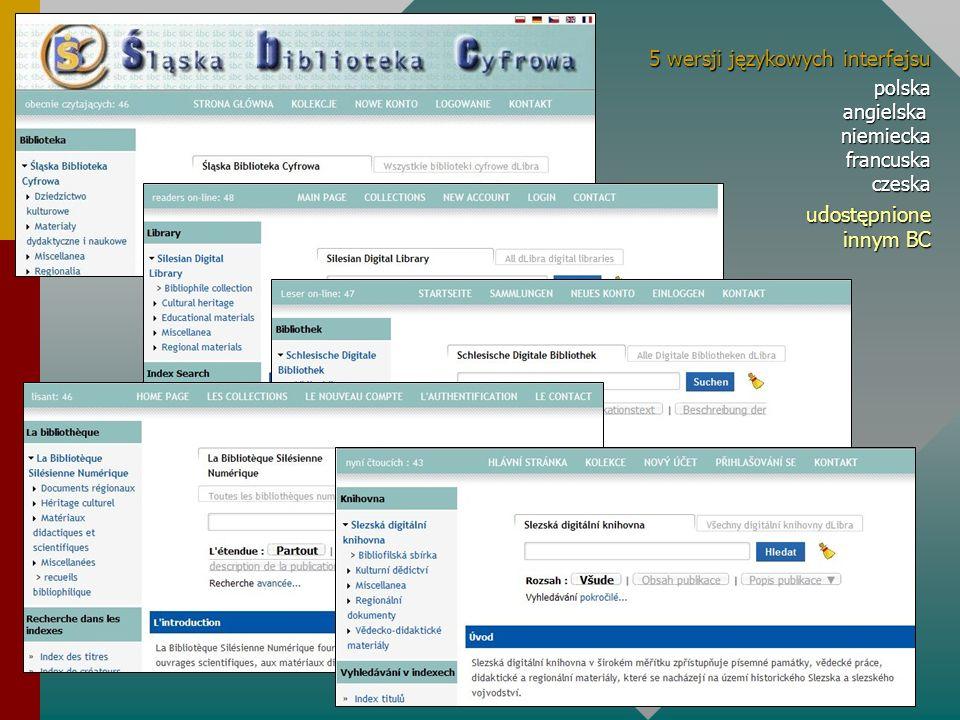 5 wersji językowych interfejsu