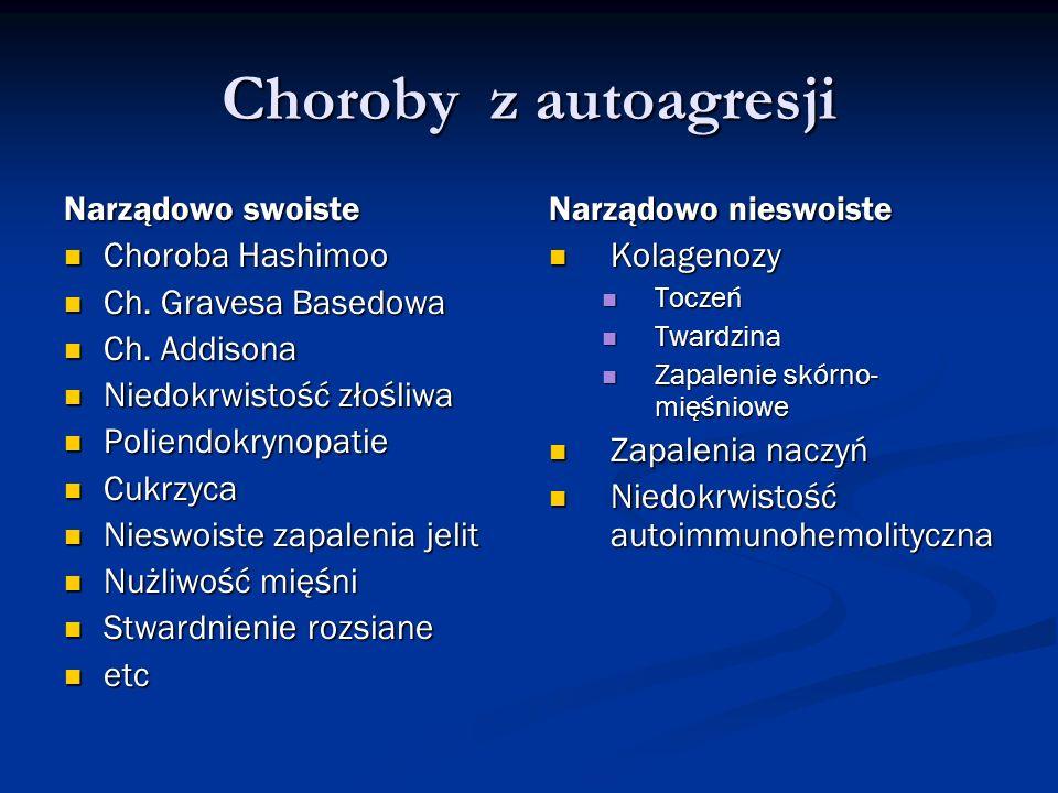 Choroby z autoagresji Narządowo swoiste Choroba Hashimoo