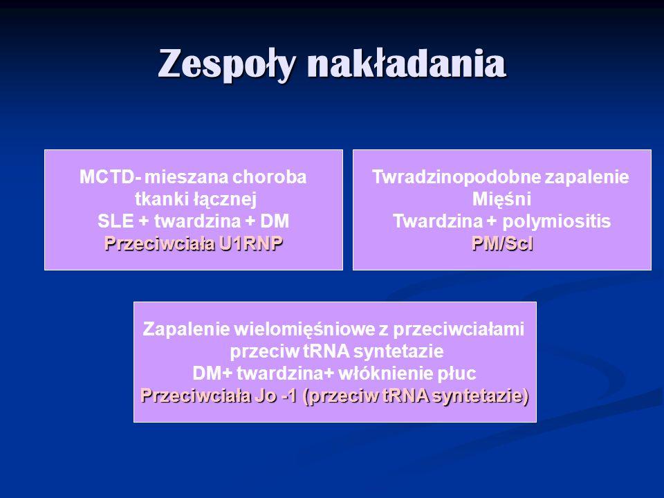 Zespoły nakładania MCTD- mieszana choroba tkanki łącznej