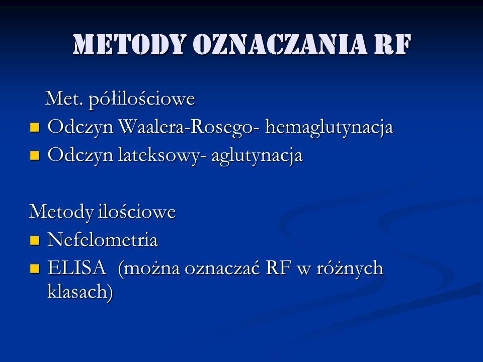 Metody oznaczania RF Met. półilościowe
