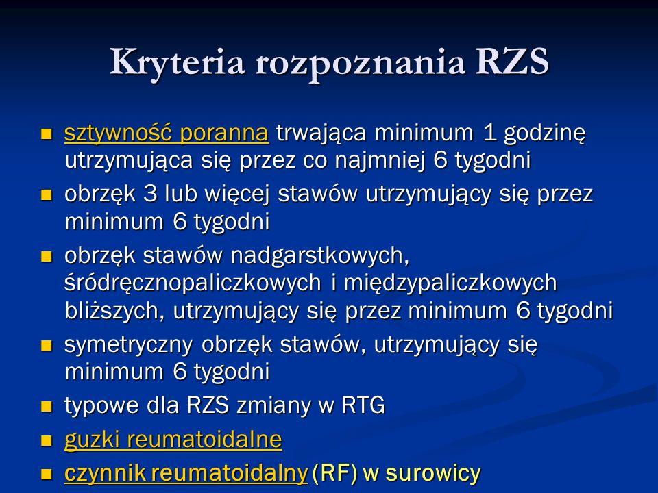 Kryteria rozpoznania RZS
