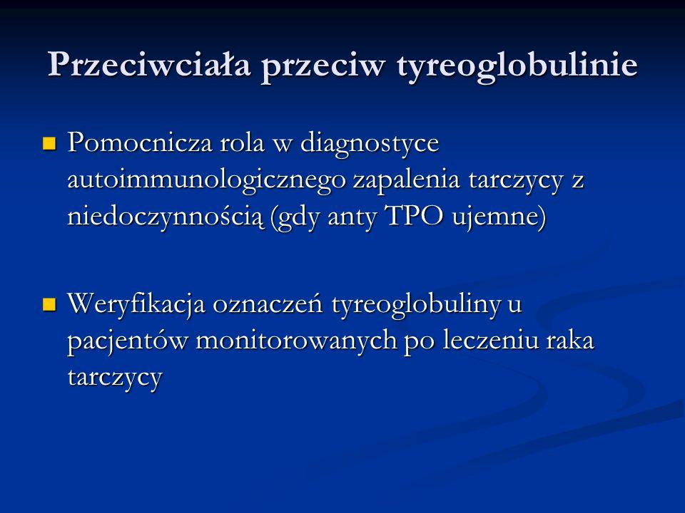 Przeciwciała przeciw tyreoglobulinie