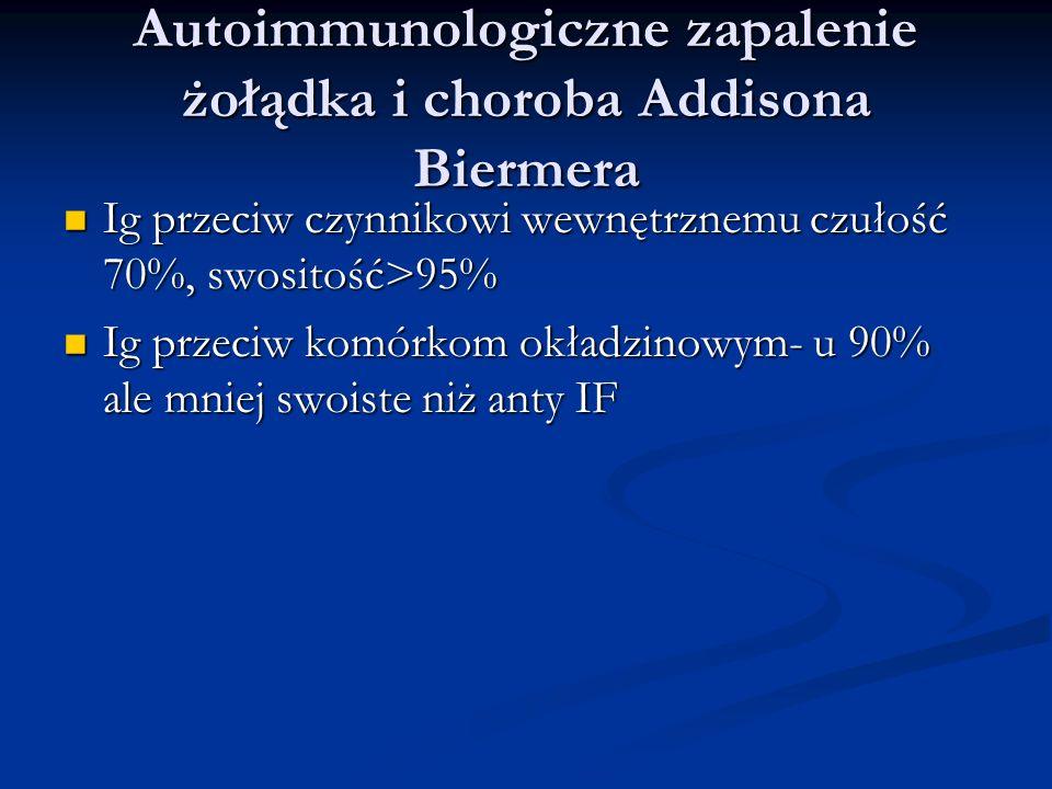 Autoimmunologiczne zapalenie żołądka i choroba Addisona Biermera