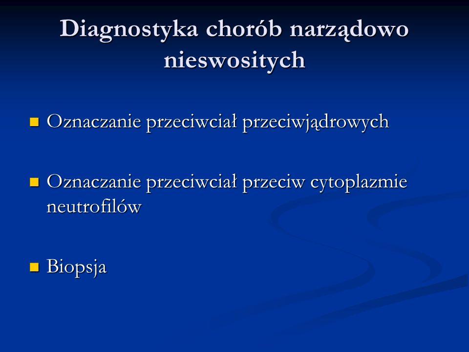 Diagnostyka chorób narządowo nieswositych