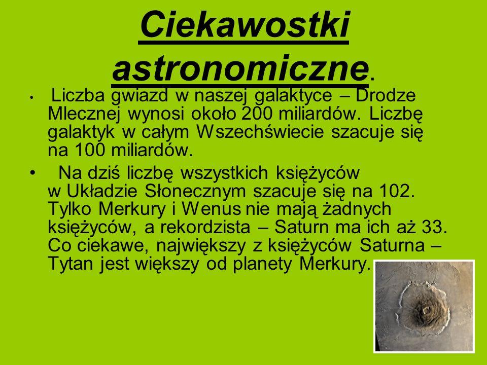 Ciekawostki astronomiczne.