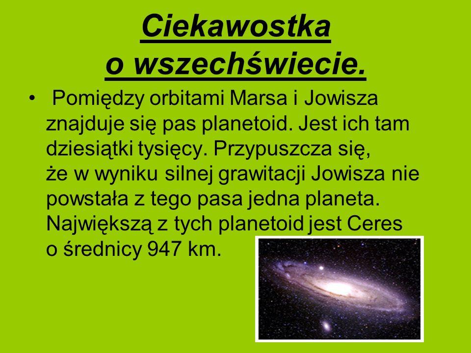 Ciekawostka o wszechświecie.