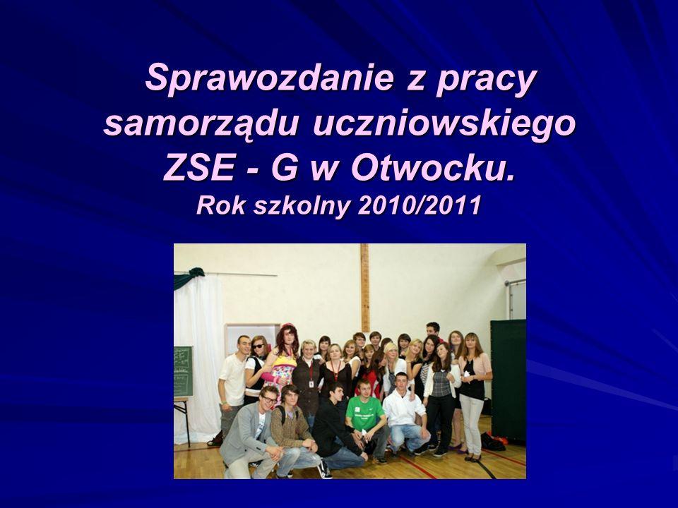 Sprawozdanie z pracy samorządu uczniowskiego ZSE - G w Otwocku