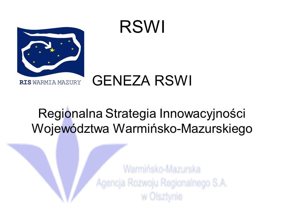 Regionalna Strategia Innowacyjności Województwa Warmińsko-Mazurskiego