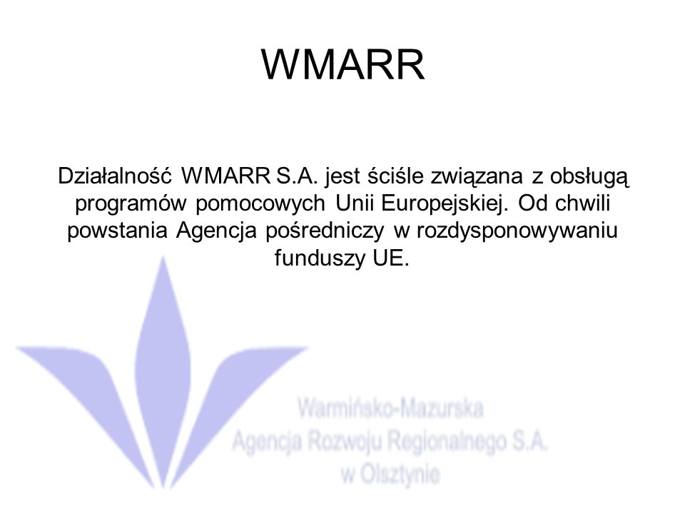 WMARR
