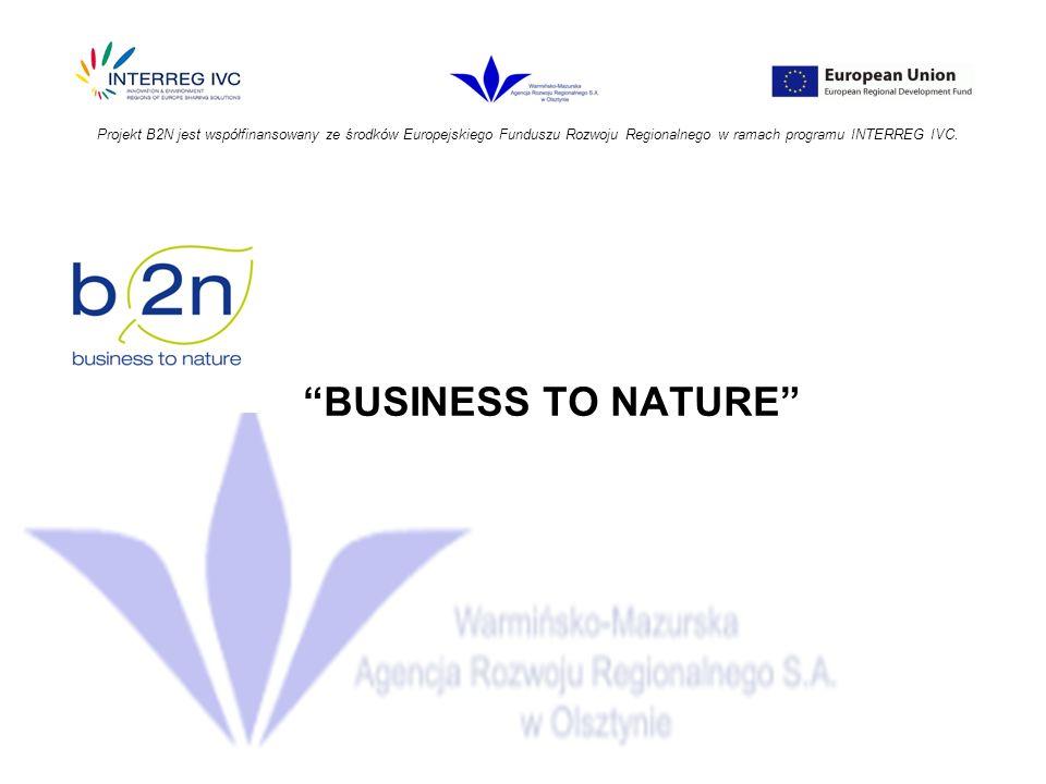 Projekt B2N jest współfinansowany ze środków Europejskiego Funduszu Rozwoju Regionalnego w ramach programu INTERREG IVC.