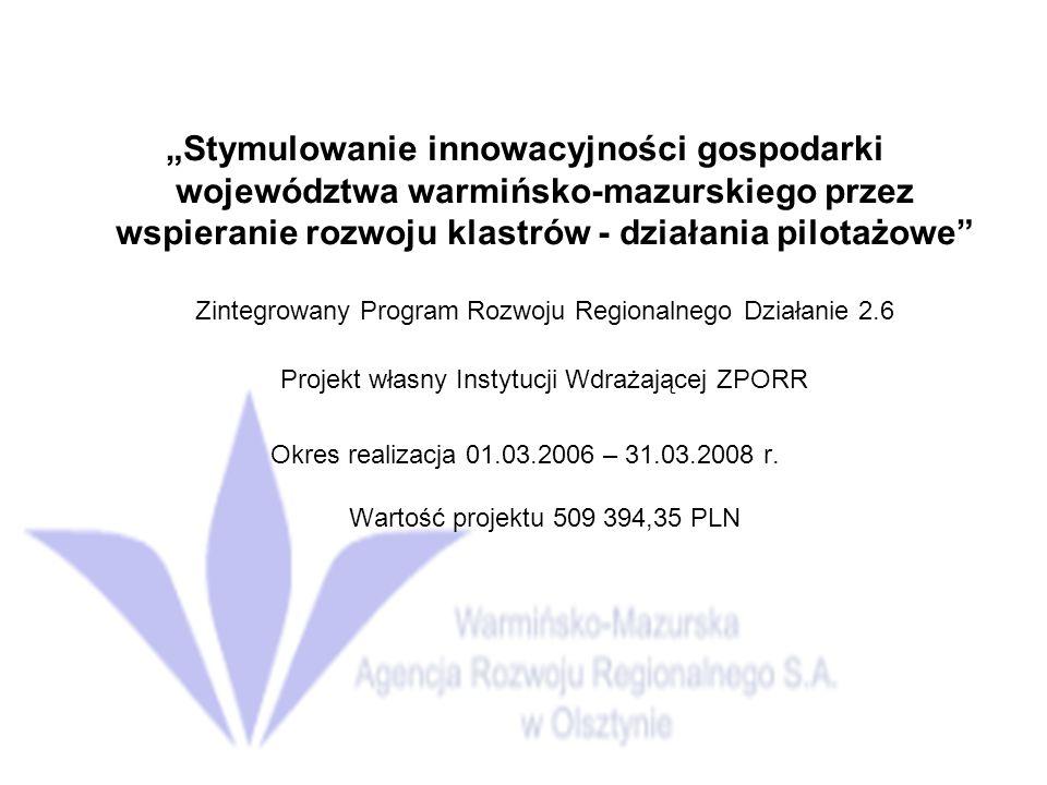 Projekt własny Instytucji Wdrażającej ZPORR