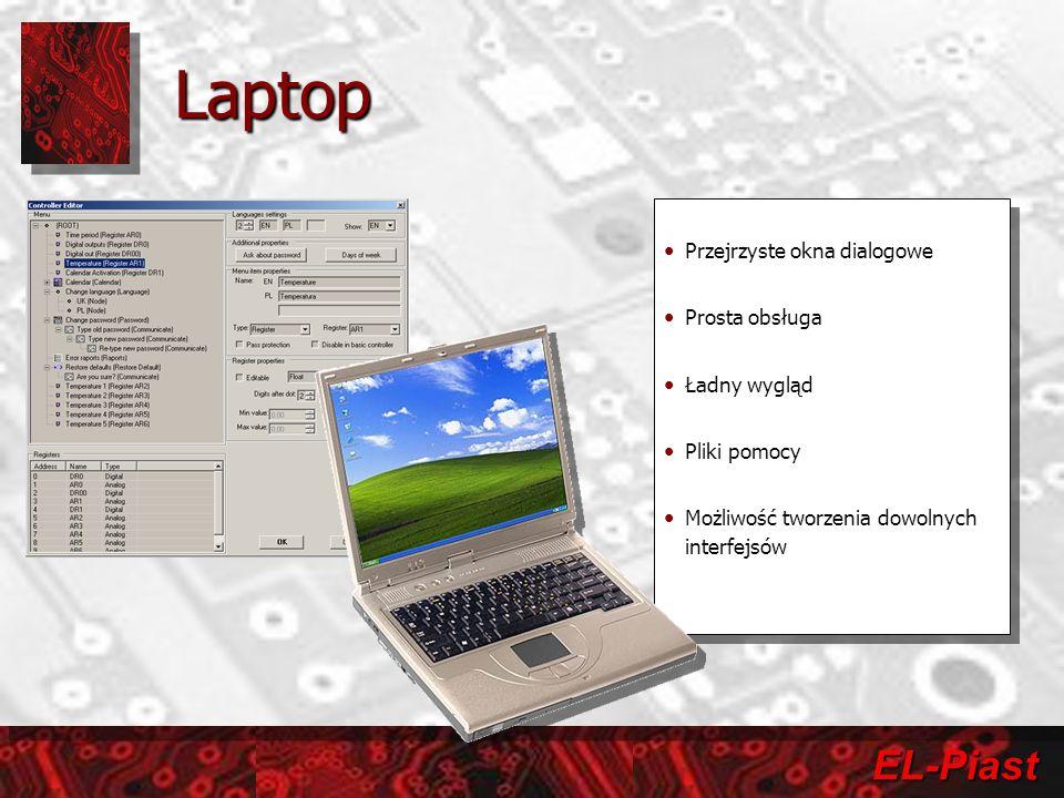 Laptop Przejrzyste okna dialogowe Prosta obsługa Ładny wygląd