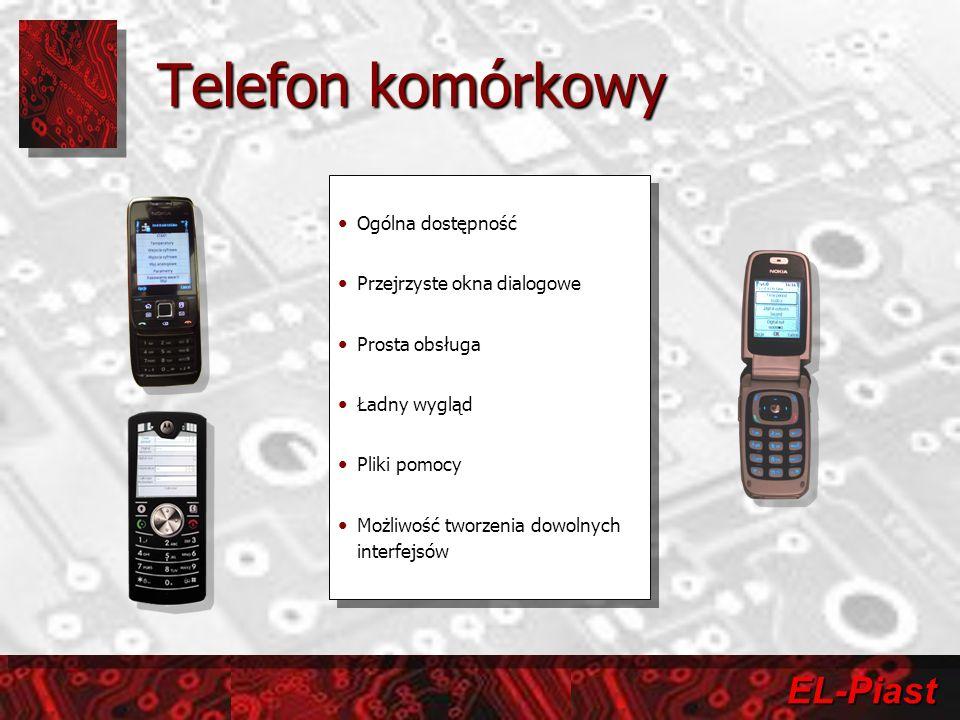 Telefon komórkowy Ogólna dostępność Przejrzyste okna dialogowe