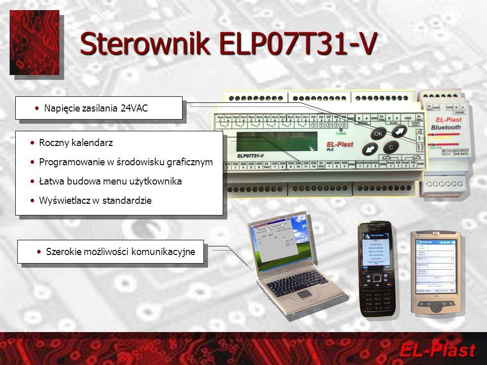 Sterownik ELP07T31-V Napięcie zasilania 24VAC Roczny kalendarz