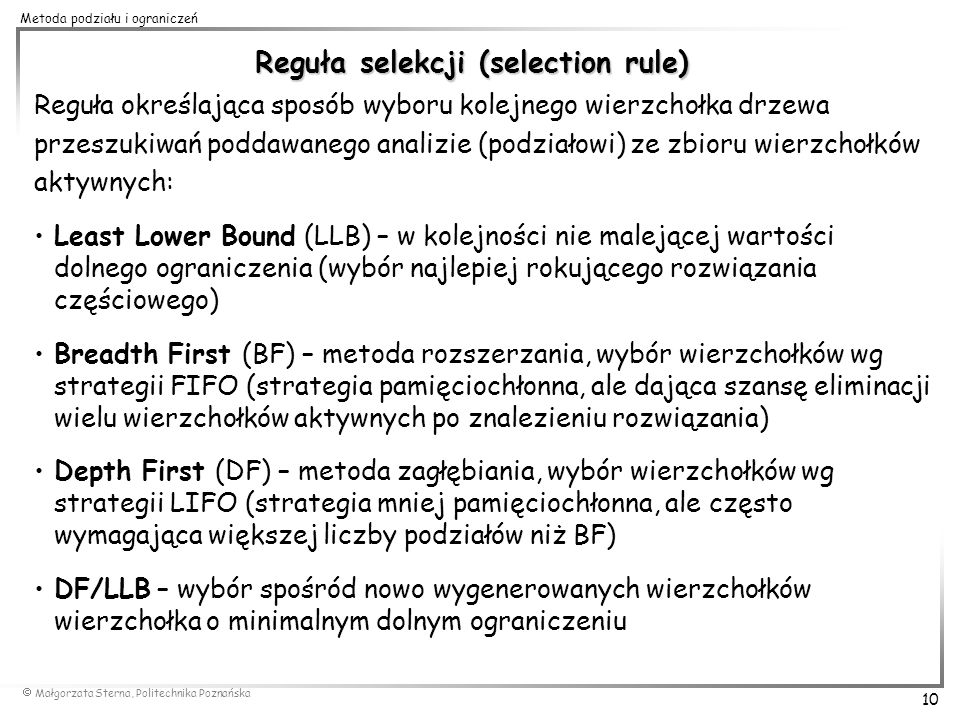 Reguła selekcji (selection rule)