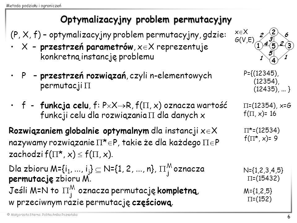 Optymalizacyjny problem permutacyjny