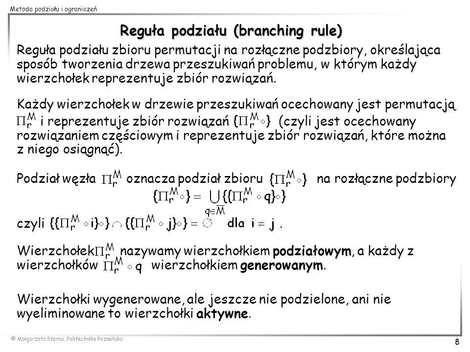 Reguła podziału (branching rule)