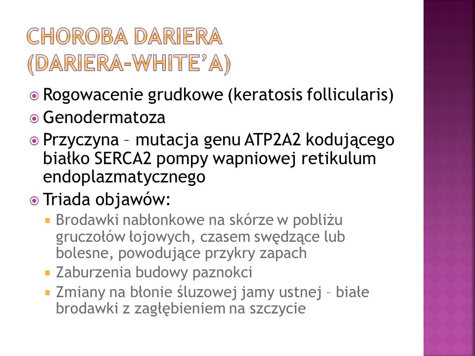 Choroba dariera (dariera-white'a)