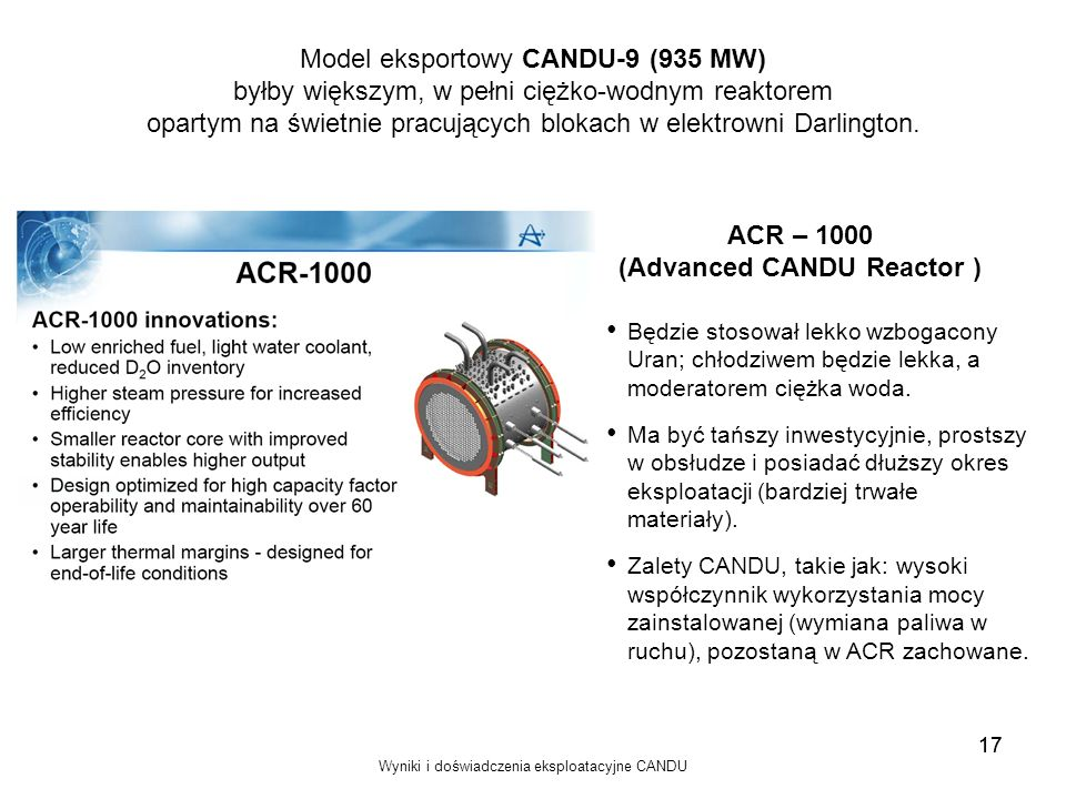 (Advanced CANDU Reactor )