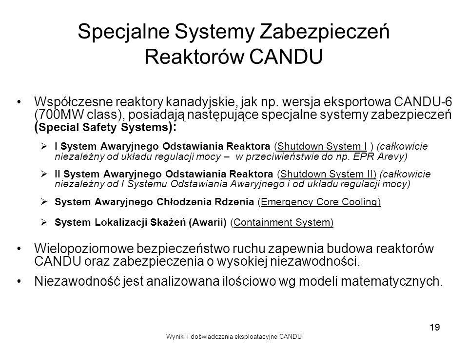 Specjalne Systemy Zabezpieczeń Reaktorów CANDU