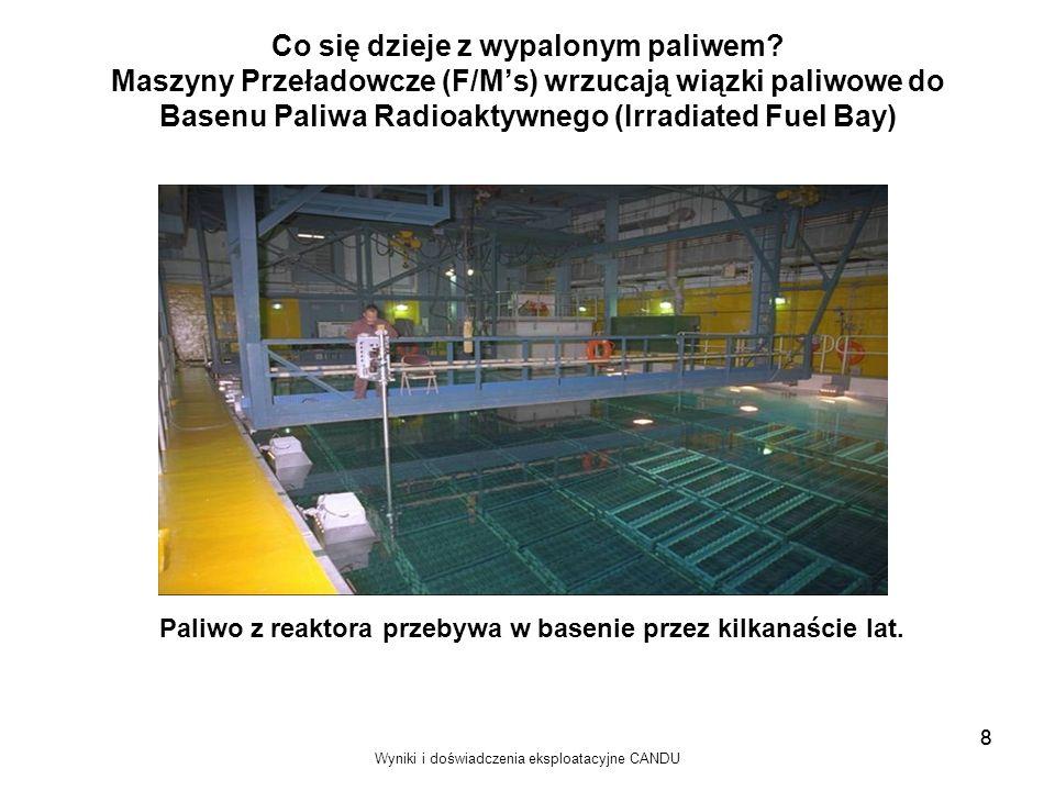 Paliwo z reaktora przebywa w basenie przez kilkanaście lat.
