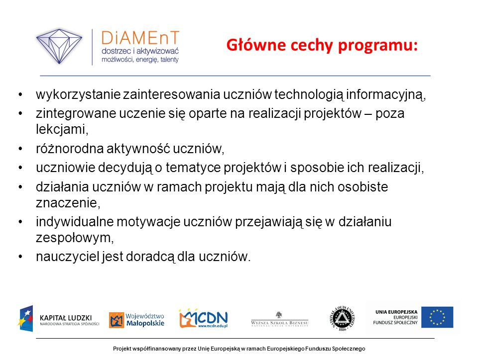 Główne cechy programu: