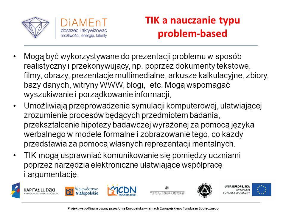 TIK a nauczanie typu problem-based