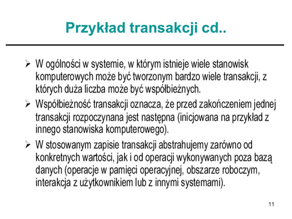 Przykład transakcji cd..