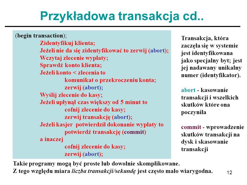 Przykładowa transakcja cd..