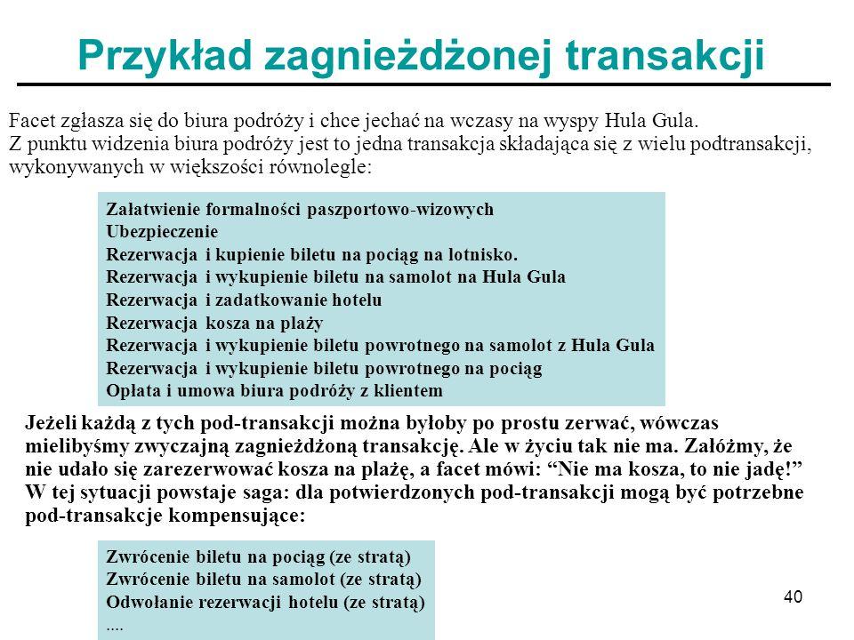Przykład zagnieżdżonej transakcji