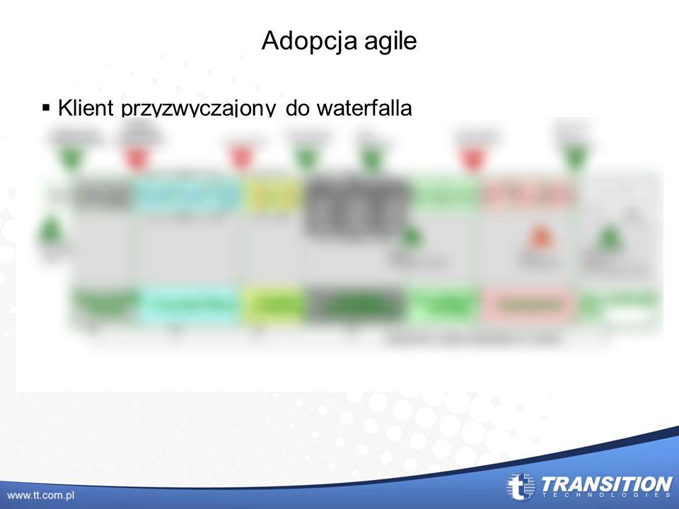 Adopcja agile Klient przyzwyczajony do waterfalla