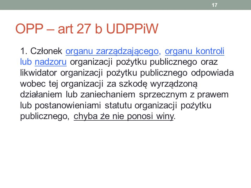 OPP – art 27 b UDPPiW