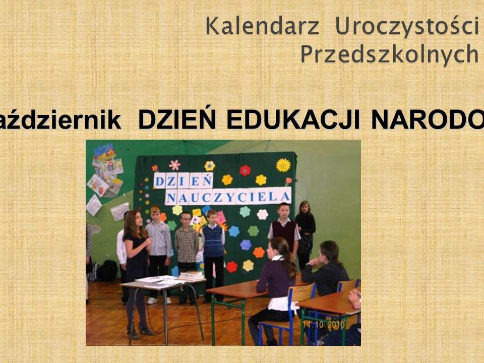 Kalendarz Uroczystości Przedszkolnych