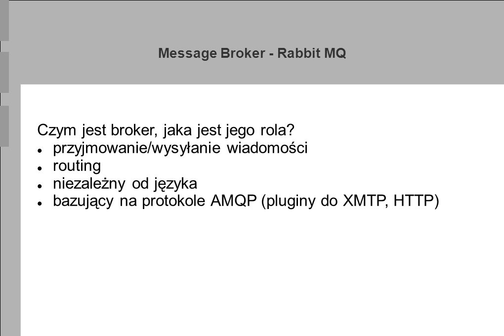 Message Broker - Rabbit MQ