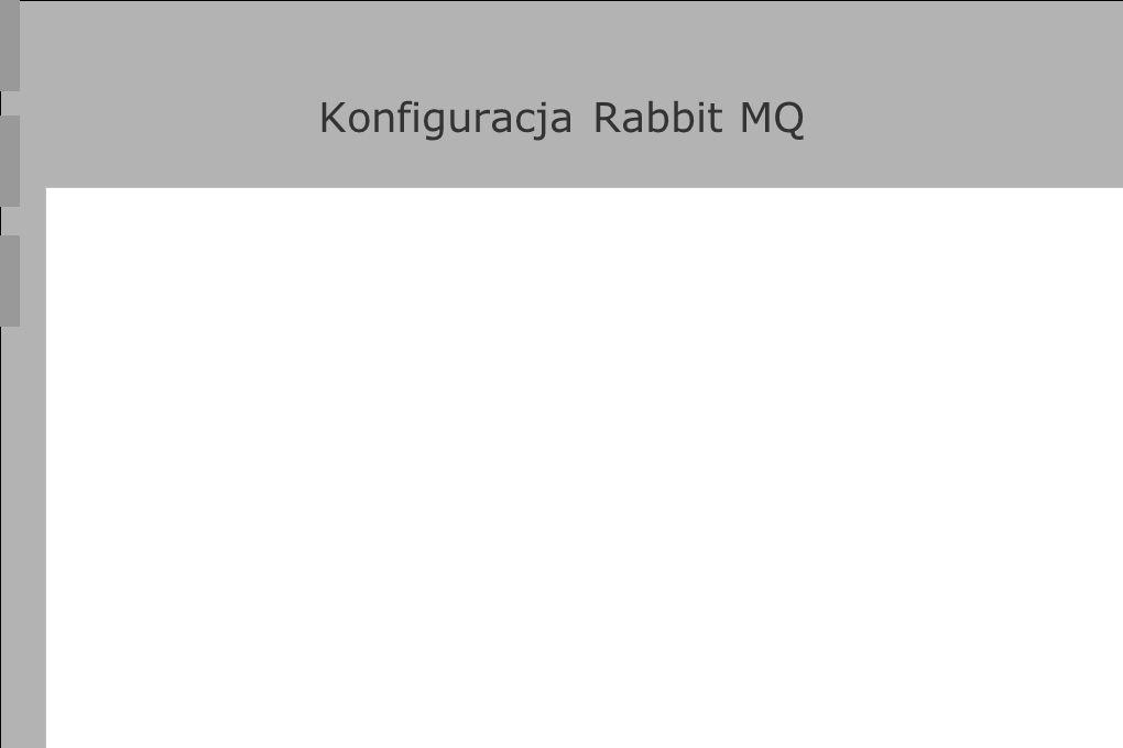 Konfiguracja Rabbit MQ