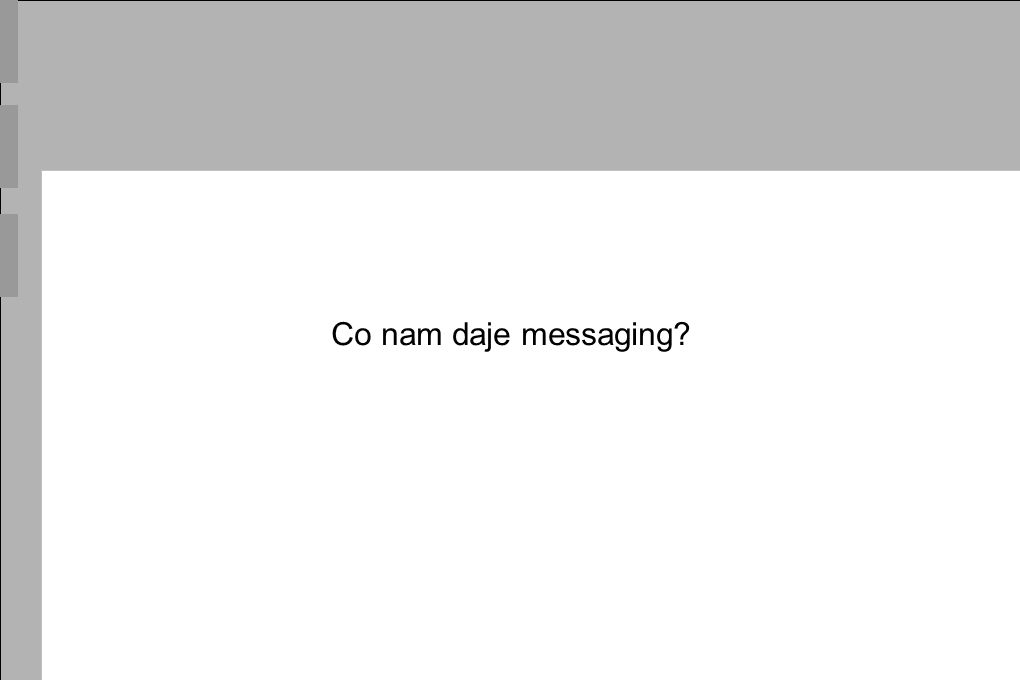 Co nam daje messaging