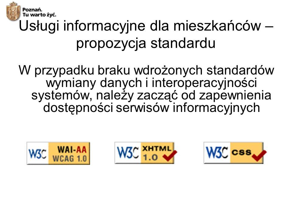 Usługi informacyjne dla mieszkańców – propozycja standardu