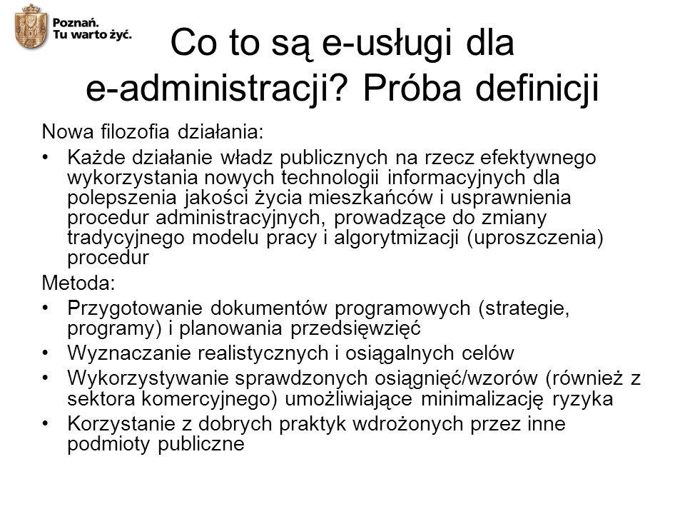 Co to są e-usługi dla e-administracji Próba definicji