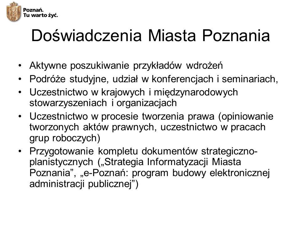 Doświadczenia Miasta Poznania