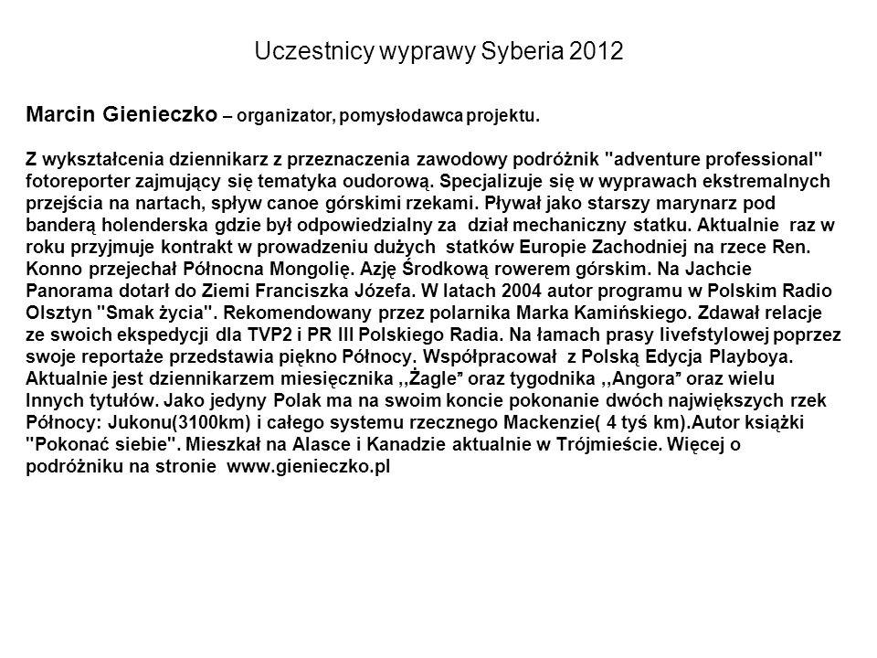 Uczestnicy wyprawy Syberia 2012