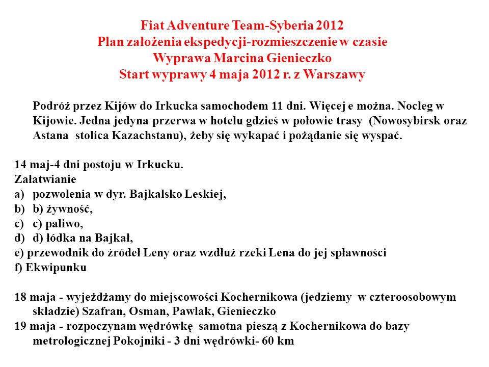 Fiat Adventure Team-Syberia 2012