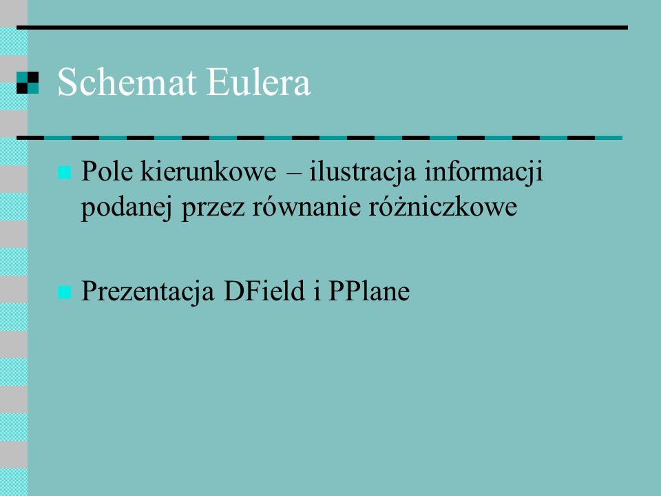 Schemat Eulera Pole kierunkowe – ilustracja informacji podanej przez równanie różniczkowe.