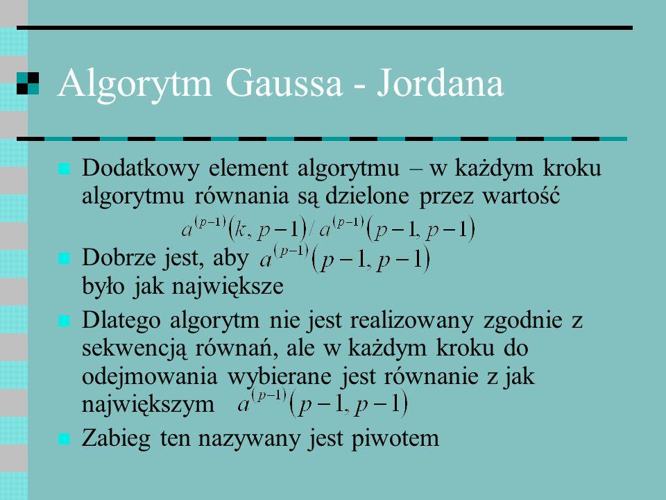 Algorytm Gaussa - Jordana
