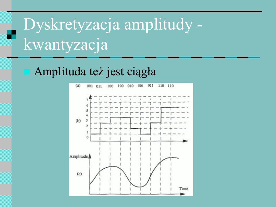 Dyskretyzacja amplitudy - kwantyzacja