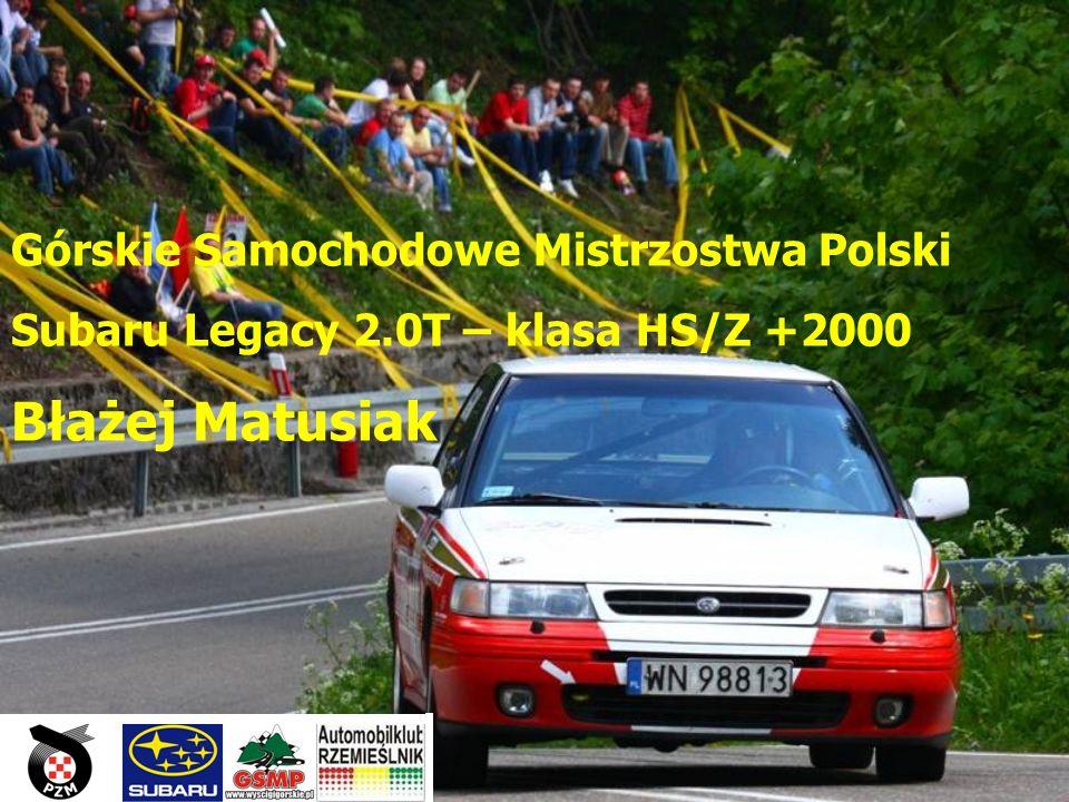 Błażej Matusiak Górskie Samochodowe Mistrzostwa Polski