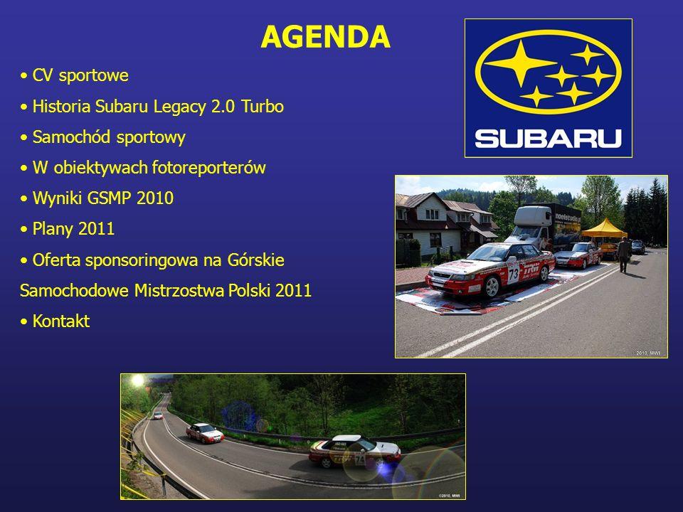 AGENDA CV sportowe Historia Subaru Legacy 2.0 Turbo Samochód sportowy